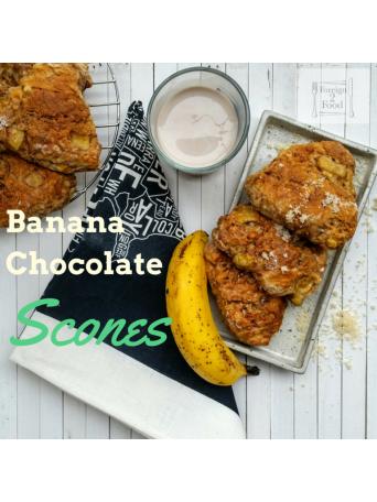 Banana choc scones